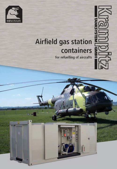 Airfield gas station container