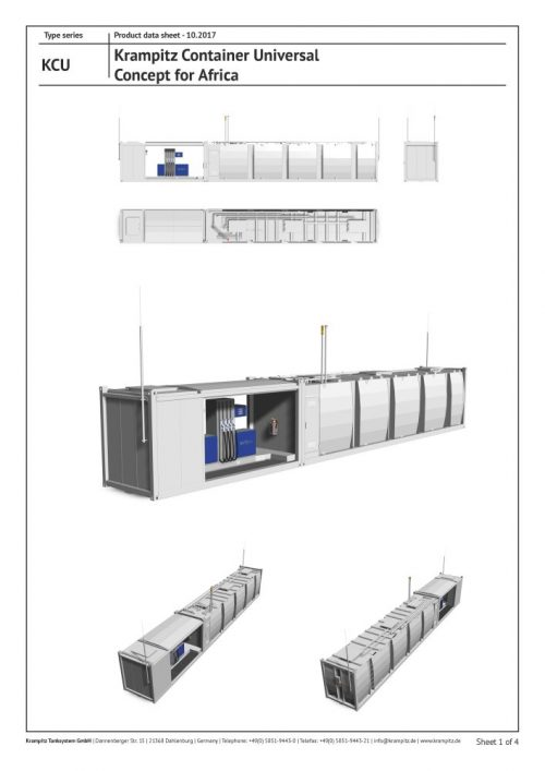 Container for universal filling stations